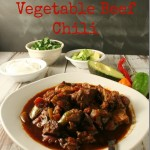 Low-Carb Spicy Chunky Vegetable Beef Chili - YoursAndMineAreOurs