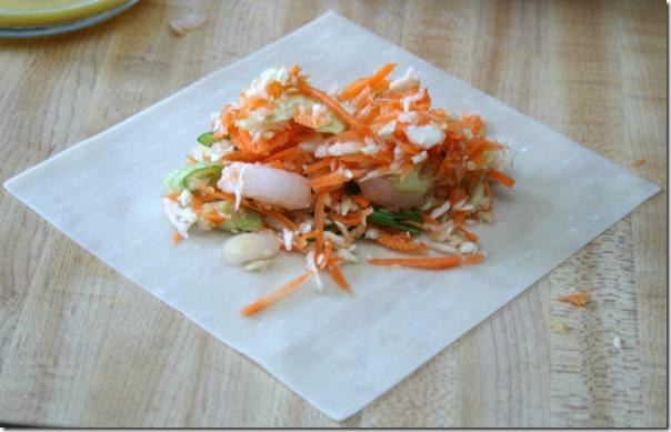 Homemade Shrimp Eggroll Step One