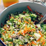 Broccoli Chopped Salad - http://eastplum.blogspot.com/2014/04/broccoli-chop-salad-with-garlic-honey.html