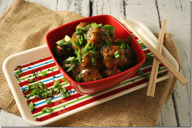 Asian Meatballs with Sweet and Spicy Ginger Sauce3