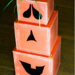 DIY Stackable Wood Blocks Pumpkin Tutorial - Yours And Mine Are Ours
