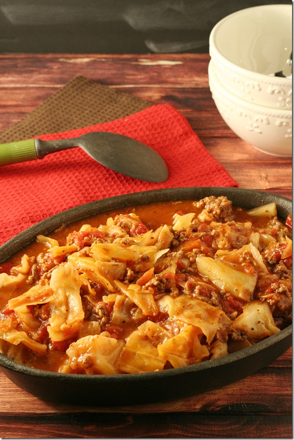Unstuffed Cabbage Roll Casserole - Yours And Mine Are Ours - Delicious Low-Carb Dinner that's perfect for the days you are short on time!