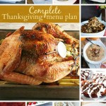 complete thanksgiving menu