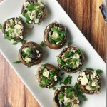 Blue Cheese, Bacon and Cranberry Stuffed Mushrooms