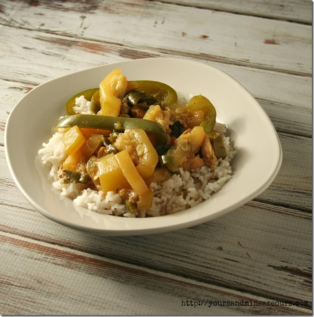 Simple Spicy Chicken Stir Fry - YoursAndMineAreOurs.com