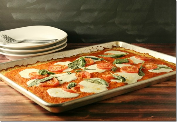 Margherita Pizza with Cauliflower Crust - YoursAndMineAreOurs.com