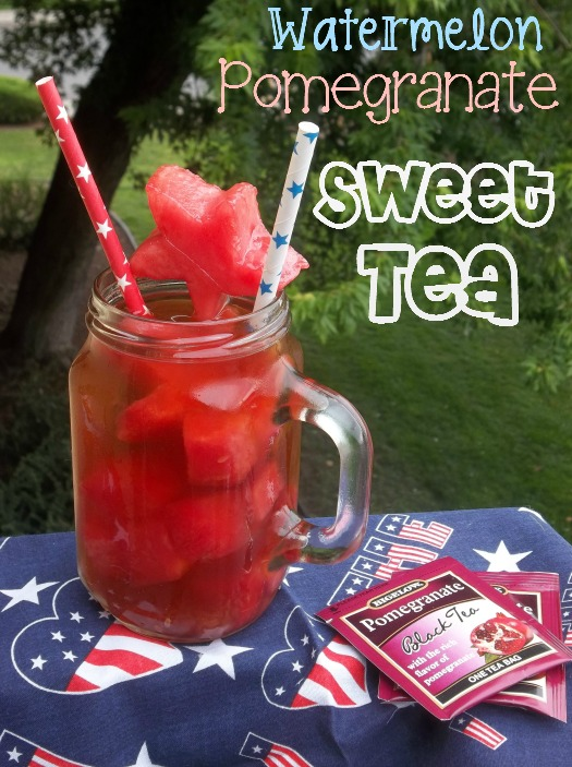 Watermelon Pomegranate Sweet Tea - Saved By Grace - Tips and Tricks Linky Party