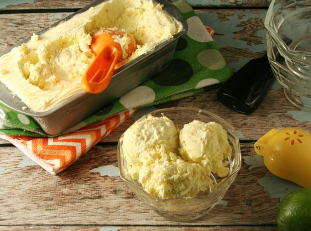 No Churn Low-Carb Zesty Citrus Ice Cream - Yours And Mine Are Ours