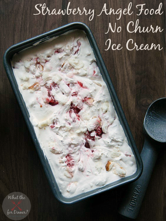 Strawberry-Angel-Food-No-Churn-Ice-Cream- Moms Test Kitchen - Tips and Tricks Linky Party