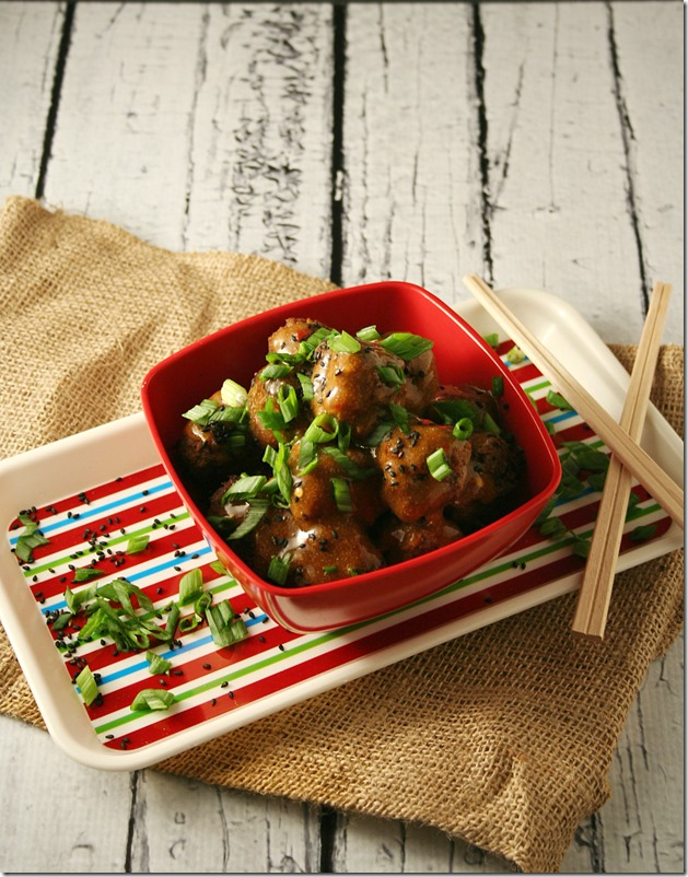 Asian Meatballs with Sweet and Spicy Ginger Sauce2