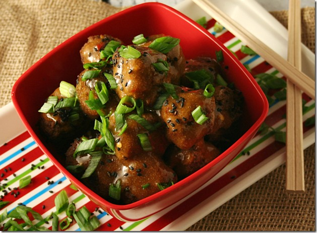 Asian Meatballs with Sweet and Spicy Ginger Sauce