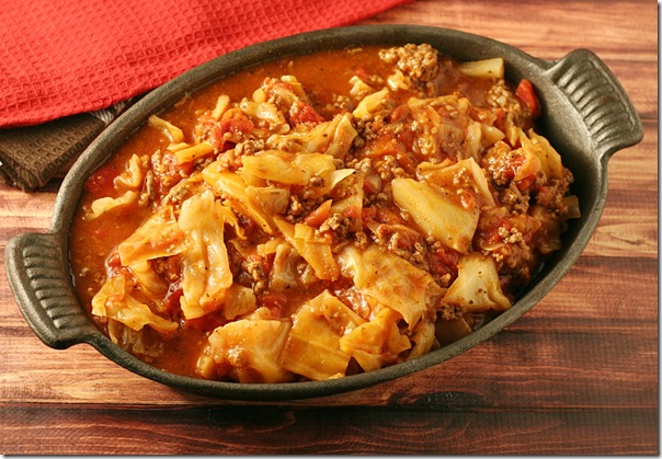 Unstuffed Cabbage Roll Casserole - Delicious Low-Carb Dinner that's perfect for the days you are short on time!
