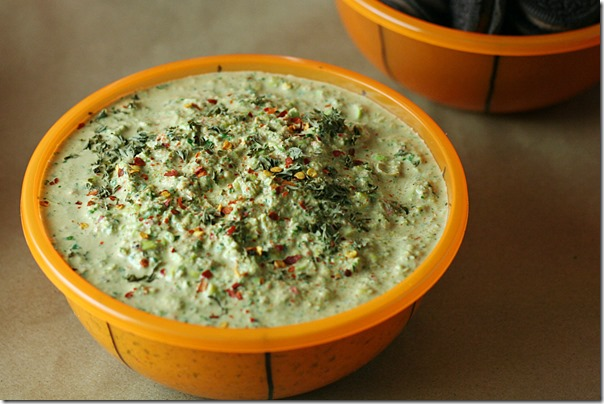 Spicy_Cilantro_Dip_And_Five_Tips_For_Throwing_An_Easy_Bracket_Party