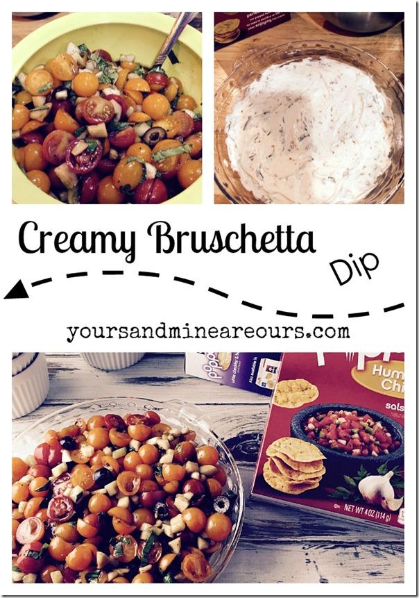Creamy Bruschetta Dip #gfwalmart | YoursAndMineAreOurs