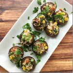 Spanish Rice Stuffed Mushrooms | YoursAndMineAreOurs